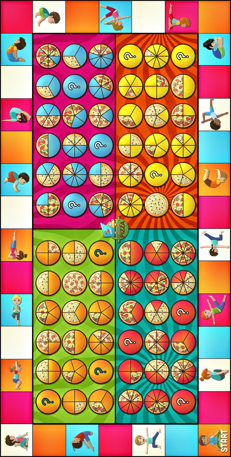 pizza fraction yoga