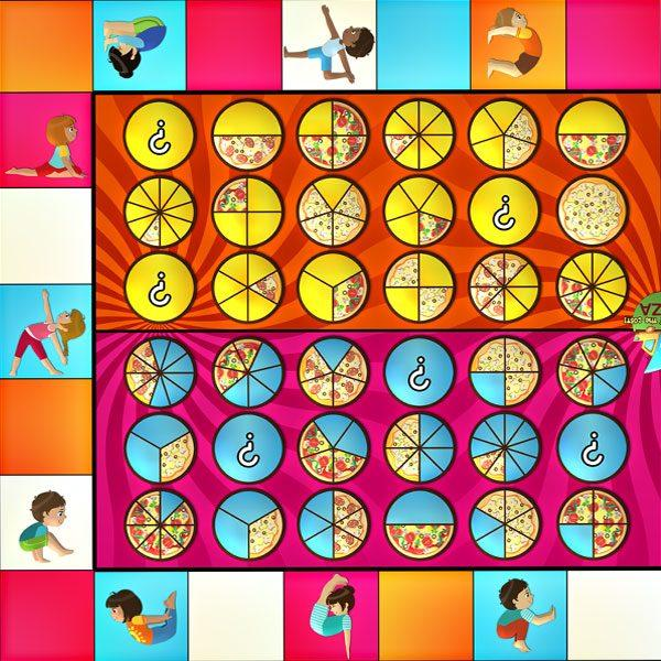 fraction pizza games
