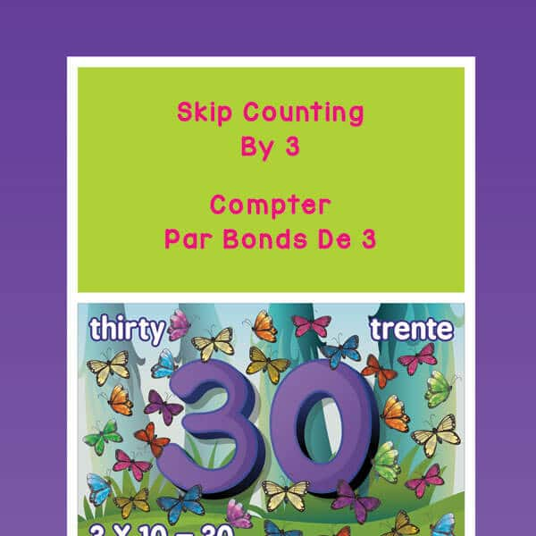 Butterfly Skip Counting by 3