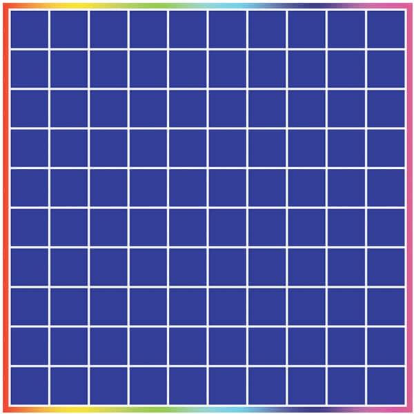 kinesthetic learning-mat-100 grid