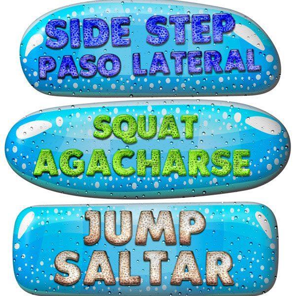 sensory path stickers