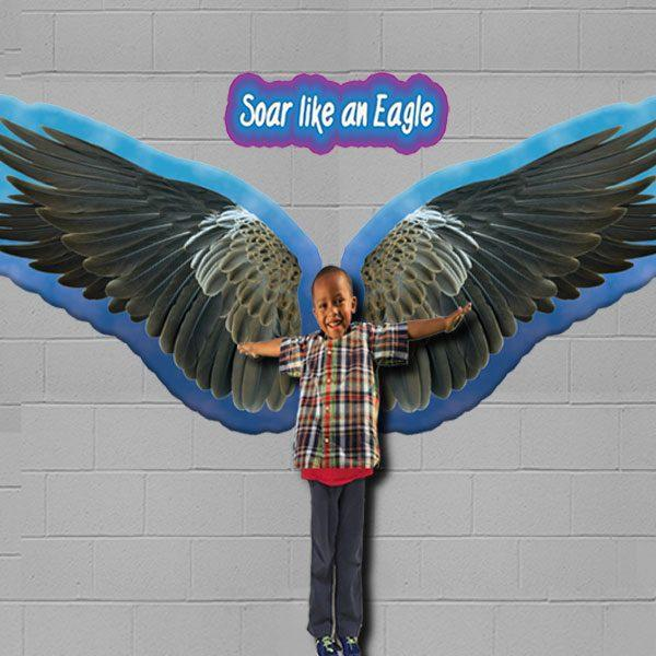sensory floor & wall stickers eagles wings