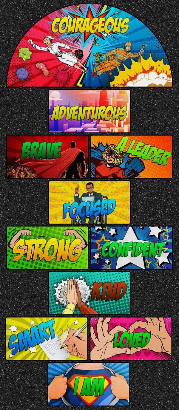 superhero hopscotch